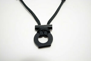 Adjustable Fire Starter Necklace With Black 550 Paracord Survival Cord