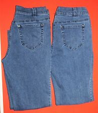 Orvis Jeans Lot Size 6 Stretch Denim Relaxed Fit 28x28 Short 2 Pair Medium Blue