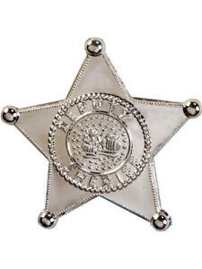 Jumbo Large Sheriff Badge Fancy Dress Accessory prop 11cm Deputy Western Cowboy