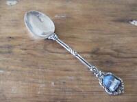 SOLID SILVER & ENAMEL Souvenir Spoon Geneve