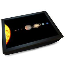 Deluxe Cushioned Lap Tray   Wooden Frame   The Solar System (Space) #DI