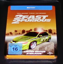 2 FAST 2 FURIOUS EXCLUSIVE LIMITED STEELBOOK EDITION BLU RAY NEW & VINTAGE