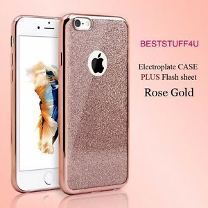 GLITTER BACK Fit IPhone Apple Soft Shock Proof Silicone Case Plating Frame