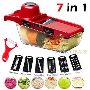 Vegetable Chopper Slicer Onion Dicer Veggie Fruit Kitchen Cutter Tool w/ 6 Blade