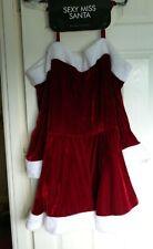 Ann Summers Miss Sexy Santa Red Velvet, White Faux Fur Trim Dress Size XXL