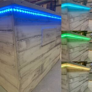 The Alaska Home Bar with R/C colour changing lights and foot rail *PERSONALISED*