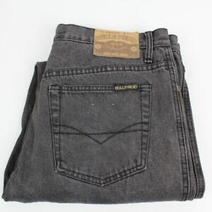 BULLS HEAD Mens Black Denim Jeans Size 36