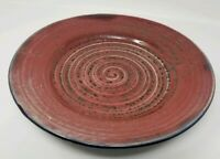 """Studio Pottery Plate 11 1/4"""" - Signed"""