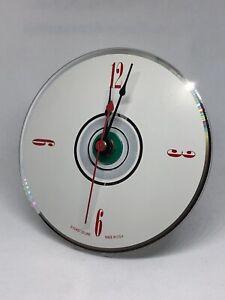 Compact Disc (CD) Desk Clock Retro Custom Made- Free Battery Included