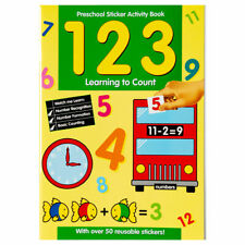 Preschool Sticker Activity Book 123 Learning to Count Children Educational Book