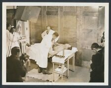 """1941 Joe Louis, """"Army Medical Exam"""" Laying on the Operating Table Vintage Photo"""