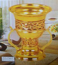 Decorative Incense Bakhoor Burner Oil Bakhur Metal OUD WOOD Mabkhara Gift GOLD