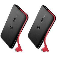 Motorola Universal Double Charger Slim battery Power Bank USB P2000 2 Pack 2000
