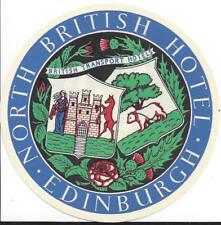 CIRCA 1970S NORTH BRITISH HOTEL, EDINBURGH,STICKER OR LABEL, UNUSED