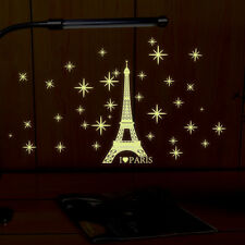 Glow In The Dark Eiffel Tower Luminous Wall Stickers Home Decor For Kids Rooms