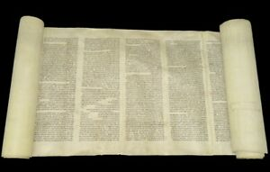 Ancient Torah Bible Scroll complete Book of Leviticus 150-200 years old Europe