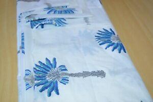 100 Yard Cotton Voile Palm Tree Hand Block Print Craft Dress Making Fabric #
