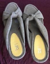 baca54fc041 Cole Haan G Series Gray Platform Wedge Heels Slide Strappy Sandals New