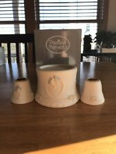 New In Box Bisque Porcelain Precious Moments Wedding Unity Candle Set Bluebirds