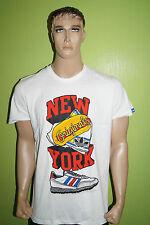 adidas T-shirt Gr.L Originals NEW YORK weiss rot blau
