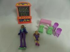 LOT OF DOLL HOUSE FURNITURE SCHOOL FUN LEARNING CHALK BOARD CHAIRS TABLE TEACHER