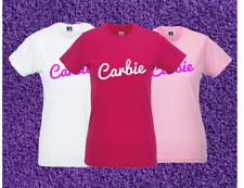 CARBIE BARBIE Inspired Girl Ladies T-Shirt Womens Top Tee