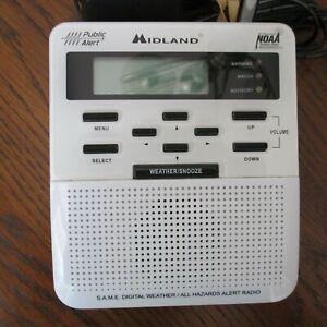 Midland Weather Emergency Radio WR-100 Alert NOAA ...Tested & Works