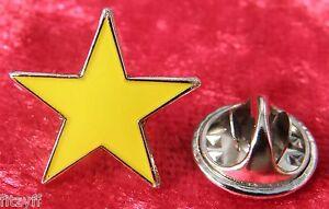 Yellow Star Pin Badge Brooch Five-pointed Pentagram