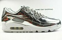 Nike Air Max 90 SP (Mens Size 9.5) Shoes CQ6639 001 Silver Chrome wmn sz 11