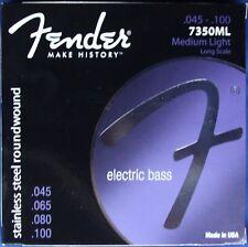 Fender Stainless Steel RoundWound Bass Strings, Medium-Light, MPN 073-7350-405