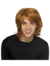 Adult Mens 70s 80s Adult Strawberry Blonde Ginger Shag Fancy Dress Wig Accessory