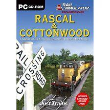 Rascal & Cottonwood add-on para simulador ferroviario (Pc Cd) Nuevo Sellado
