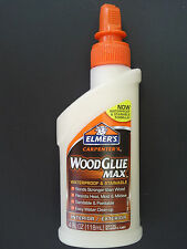 ELMER'S CARPENTER'S WOOD GLUE MAX Exterior Interior Stainable Waterpro E7290 4oz