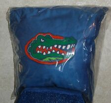 "FLORIDA GATORS 16""x16"" EMBROIDERED PILLOW NCAA COLLEGIATE DORM MAN CAVE DECOR"