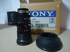"""SONY VCL-712BXS 1/2"""" BAYONET MOUNT MOTORIZED LENS FOR 3CCD CAMERAS"""