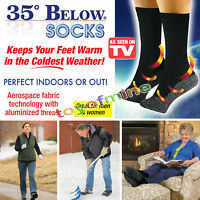 35 Below Socks Keep Your Feet Warm and Dry As   On TV Aluminized Fibers Super