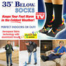 35 Below Socks Keep Your Feet Warm and Dry As Seen On TV Aluminized Fibers