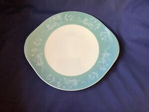 ROYAL DOULTON CASCADE D6457 BREAD AND BUTTER CAKE PLATE WITH HANDLES 27CM