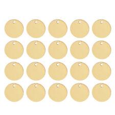 Oro 20 un. Redondo en Blanco Etiquetas encantos colgante de Estampado para Pulsera Hágalo usted mismo 11mm