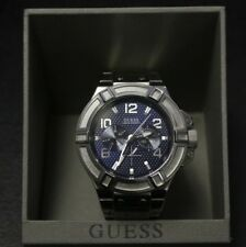 Guess Watch Men 100m/330ft  Day Date Multi Fonction Blue Dial