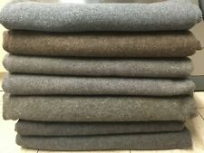 British Army Wool Grey Brown Military Blanket 1.95 x1.5m Grade 1 WW2 Reenactment