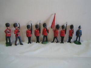 Lot of 8 Britains Ltd British Toy Soldier and 1 British Bobby