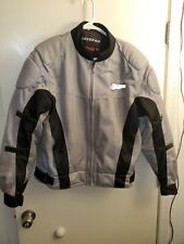 Firstgear Motorcycle Summer Riding Jacket Size Large w/ liner Gray - Used