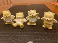 Vintage Ceramic Bears 4 Ornaments Or Figurines Made In Taiwan Roc