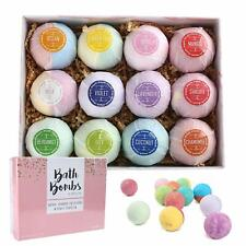 12pc Bath Bombs Fragrance Essential Oil Dry Skin Moisturize Birthday's Day Gifts