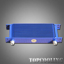 Blue 15 Row AN-10AN Universal Engine Transmission Oil Cooler Aluminum