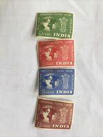 INDIA Universal Postal Union 1874-1949 Unused Stamps 2, 5 1/5, 12 Annas & 9 Pies