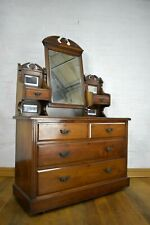 Antique carved dressing table - chest of drawers - vanity unit