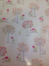 Woodland Pvc Coated 100% Cotton Fabric In Taupe By The Half Metre