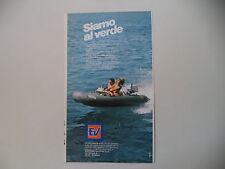 advertising Pubblicità 1983 BATTELLO GOMMONE EV EUROVINIL - GROSSETO